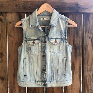 MADEWELL small blue jean vest sleeveless